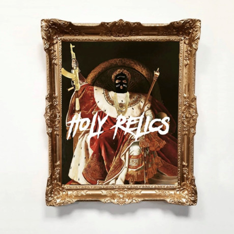 "Holy Relics // Gold Frame (30""H x 25""W x 2.3""D)"