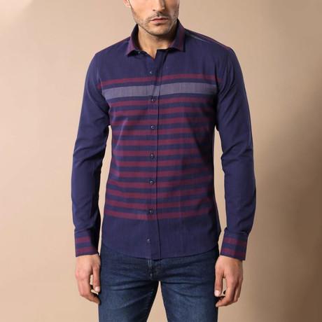 Hartford Slim-Fit Shirt // Navy (S)