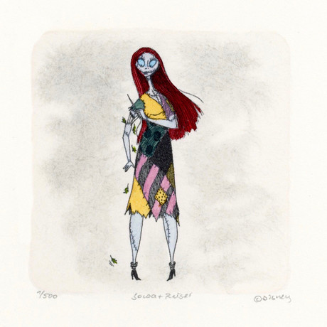 Sally // Nightmare Before Christmas // Hand Painted Cartoon Etching (Unframed)