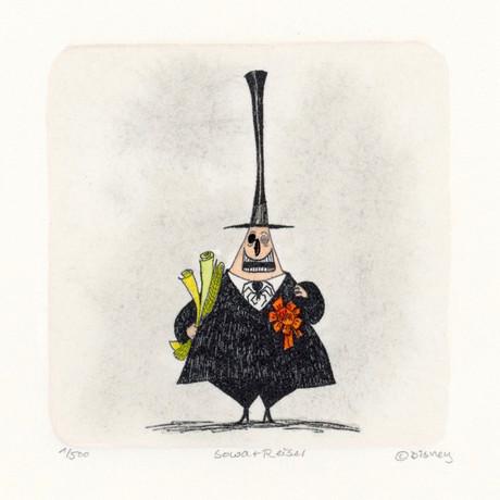 Mayor of Halloween Town // Nightmare Before Christmas // Hand Painted Sowa & Reiser Etching (Unframed)