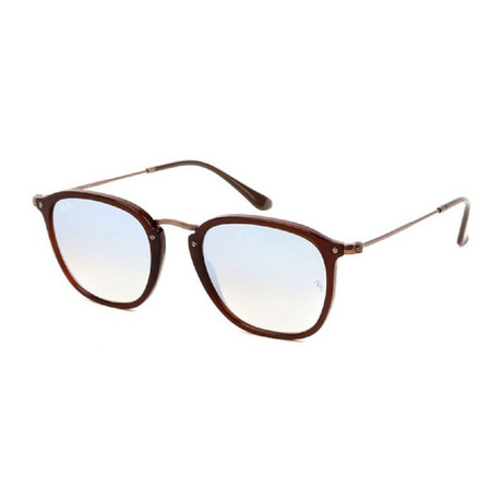 Men's Square Sunglasses // Brown + Gray Flash Gradient