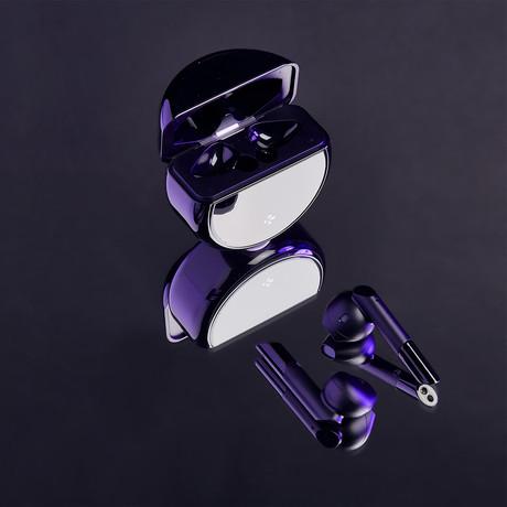 Zebuds Pro // TWS Earphones + Qi Wireless Charging Case // Black