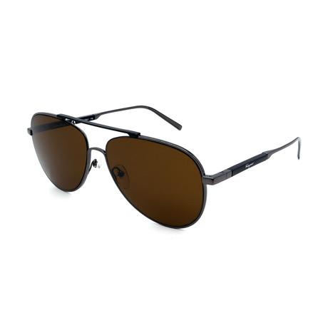 Men's SF174S-021 Sunglasses // Gunmetal + Brown
