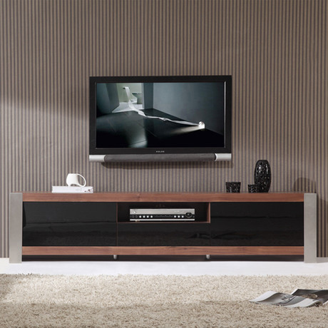 Coordinator TV Stand (Walnut + Stainless Steel)