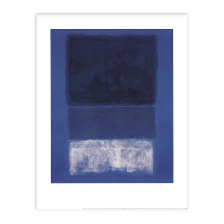 Mark Rothko // No 14 White and Greens in Blue // 1998 Offset Lithograph