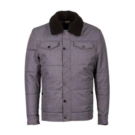 Sherpa Collar acket // Gray (Euro: 48)