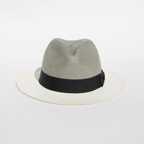 Santorini // White + Gray Straw (S)