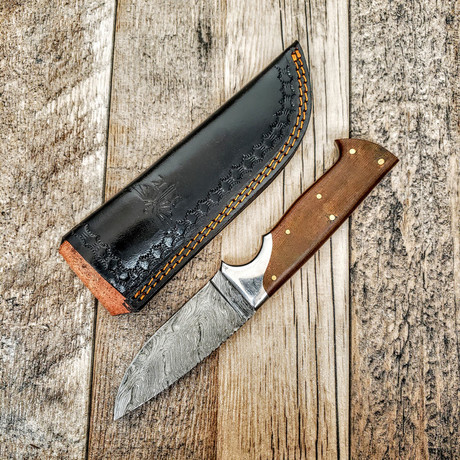 Brown Hunter // Full Tang + Wave Steel Bolster