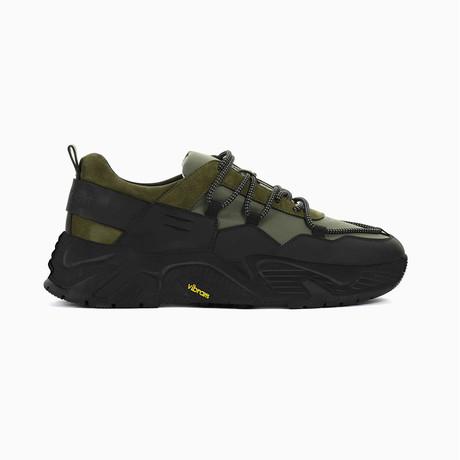 The Hollen Black Soul Sneaker // Black + Green (US: 7)