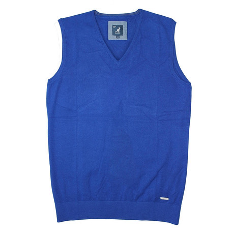 Premium Super Soft 12 Gauge Sweater Vest // Royal (S)