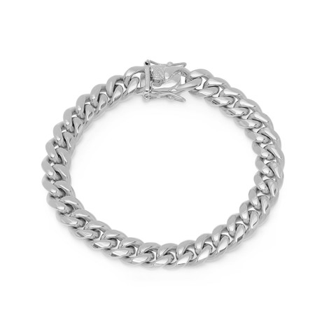 Miami Cuban Chain Link Bracelet // Silver