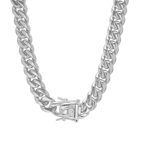 "Miami Cuban Chain Link Necklace // Silver (24"")"