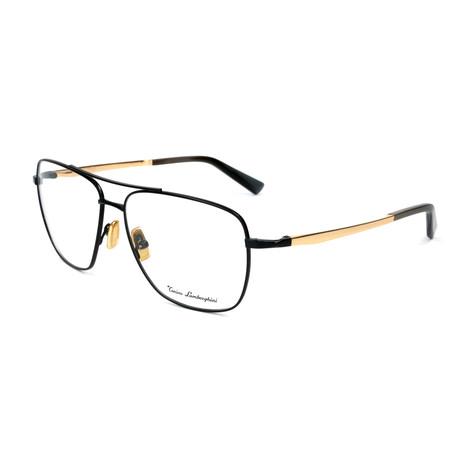 Men's TL904V Optical Frames // Black + Gold