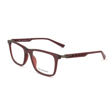 Men's TL312V Optical Frames // Burgundy + Silver
