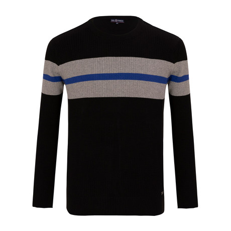 Striped Sweater // Black (S)