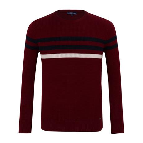 Stripe Sweater // Bordeaux (S)