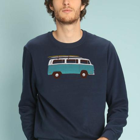 Blue Van Sweatshirt // Navy (S)