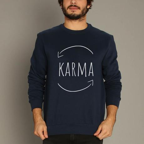 Karma Sweatshirt // Navy (S)