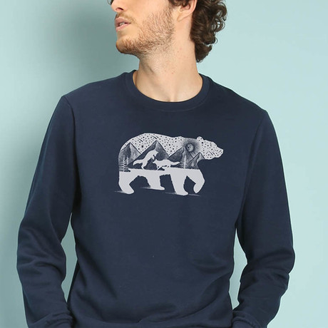 Bear And Foxes Sweatshirt // Navy (S)