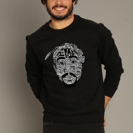 Tupac Shakur Sweatshirt // Black (S)