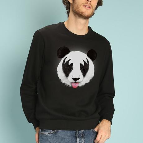 Panda Kiss Sweatshirt // Black (S)