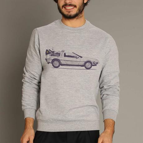Delorean Sweatshirt // Gray (S)