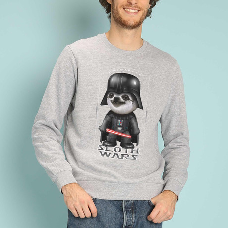 Sloth Wars Sweatshirt // Gray (S)