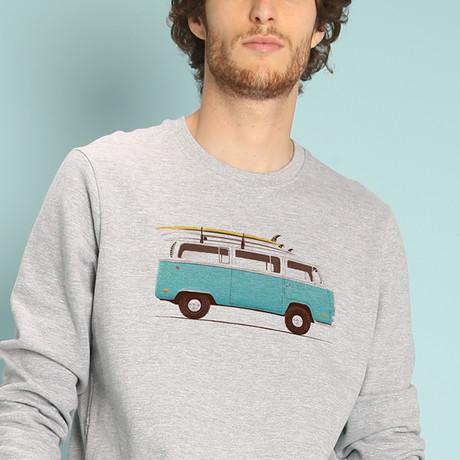 Blue Van Sweatshirt // Gray (S)