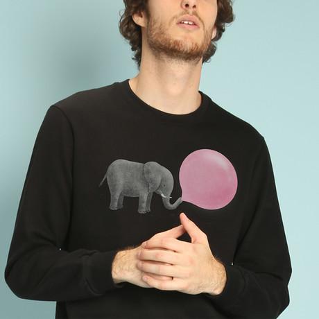 Jumbo Bubble Gum Sweatshirt // Black (S)