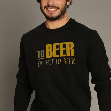 To Beer Or Not To Beer Sweatshirt // Black (S)