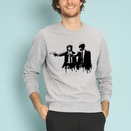 Divine Monkey Intervention Sweatshirt // Gray (S)