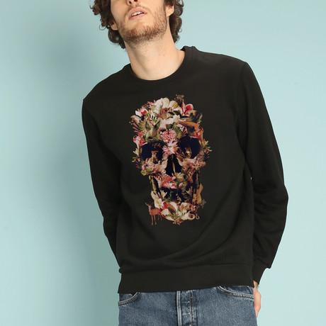Jungle Skull Sweatshirt // Black (S)