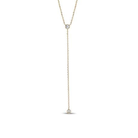 Cubic Zirconia Necklace // Yellow