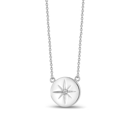North Star Pendant + Chain // White