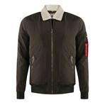 Bomber Coat // Dark Olive Green (S)
