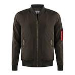 Bomber Coat // Dark Olive Green (L)