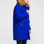 Fur Hood Coat // Sax (S)