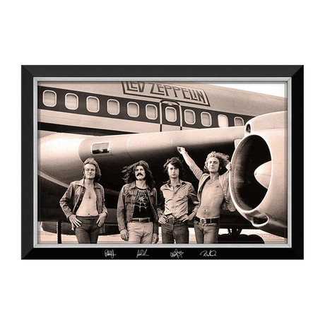 Led Zeppelin // With The Starship Tour Plane // Facsimilie Signed Canvas Display