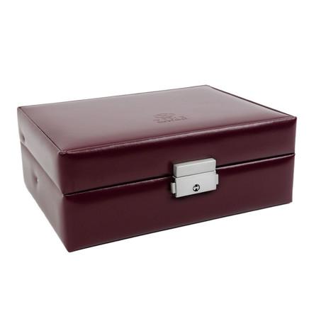 My Antonia // Leather Jewelry Box // Burgundy