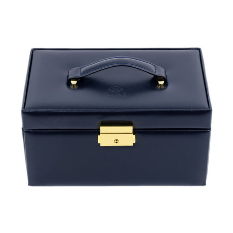 Beloved // Leather Jewelry Box // Navy