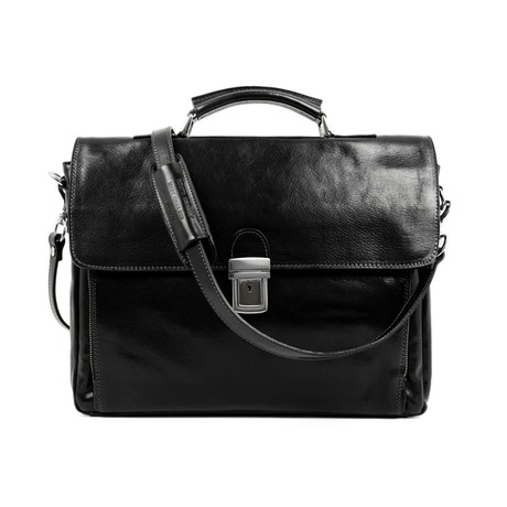 In Cold Blood // Leather Briefcase (Black)