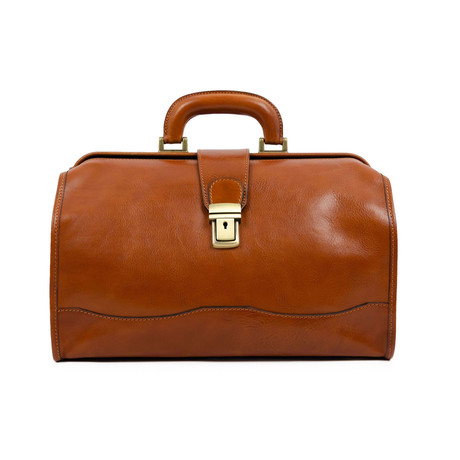 David Copperfield // Small Leather Doctor Bag // Cognac