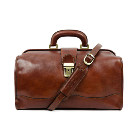 David Copperfield // Small Leather Doctor Bag // Brown