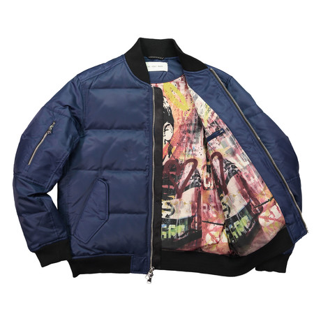 Quilted Bomber // Midnight (XS)