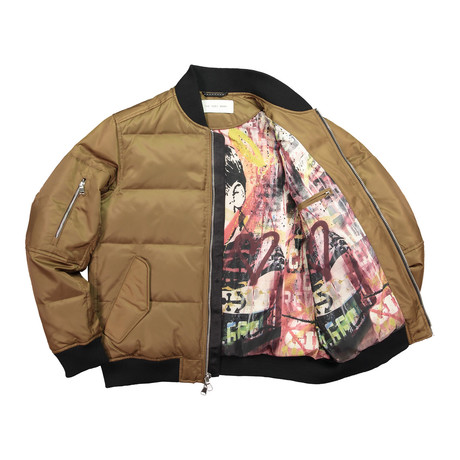 Quilted Bomber // Camel (XS)