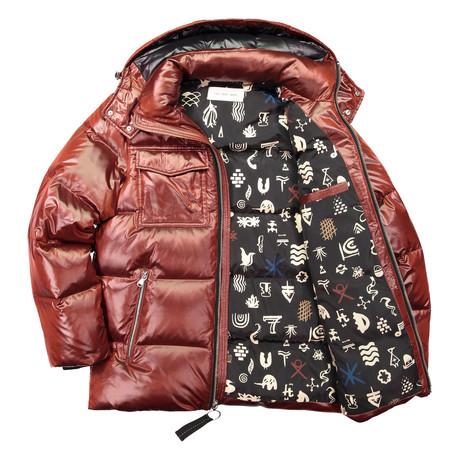 Down Filled Cire Jacket // Brick (XS)
