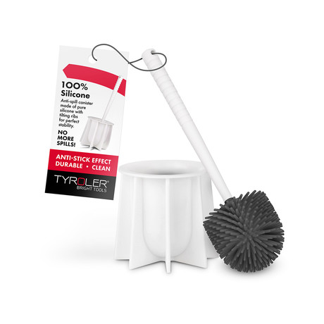 Anti Bacterial Toilet Brush // White