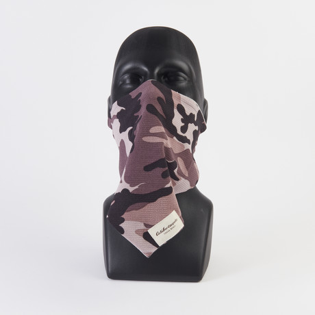 Camo Crepe Maskdanna // Purple + Black (XS)