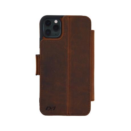 V6 FOLIO Case // Brown (iPhone 7/8/SE)