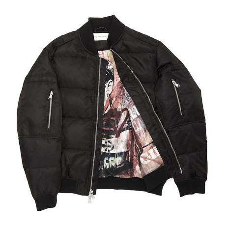 Quilted Bomber // Black (XS)
